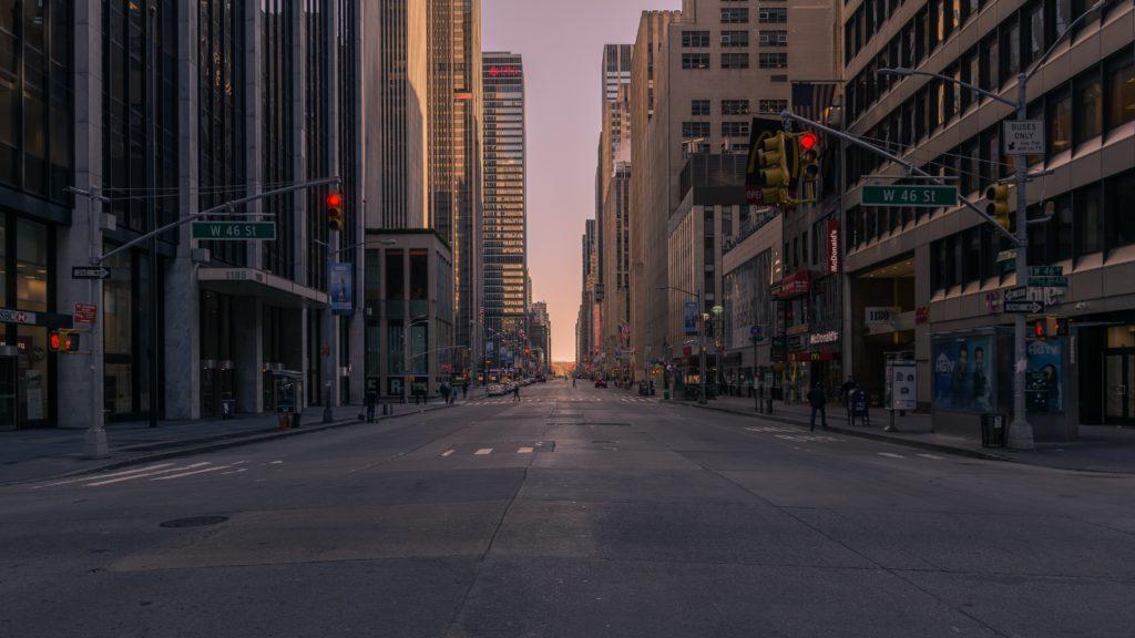 Coronavirus empty city